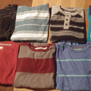 9-BOYS L/S SHIRT BUNDLE-SIZE 10/12 for Sale in Modesto, CA