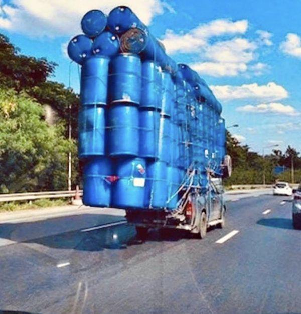 PLASTIC BARREL BARRELS BLUE 55 gallon drum drums