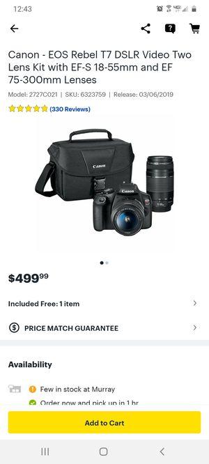 Canon Rebel T7 two lense Kit for Sale in Sandy, UT