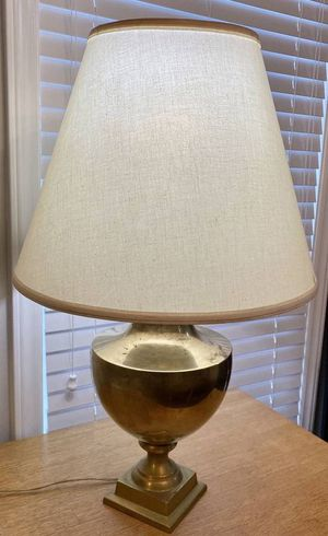 Vintage Antique Large Gold Brass Urn Pedestal Table Lamp for Sale in Chapel Hill, NC