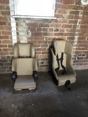Set of two rare car seats in beige leather or leatherette for Sale in Beverly Hills, CA