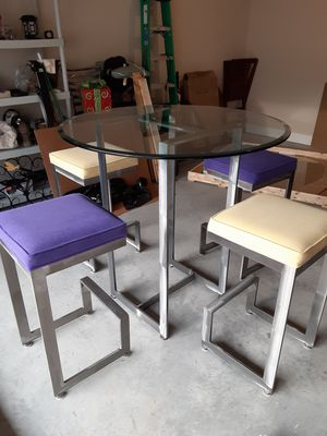 Pub Table and 4 Stools - Indoor Set for Sale in Smoke Rise, GA