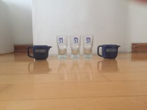 French Pastis set (glasses and small pitchers) for Sale in Miami Shores, FL