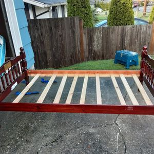 TWIN SIZE SOLID WOOD BED FRAME DELIVERY IS AVAIL FIRM ON MY PRICE for Sale in Lynnwood, WA