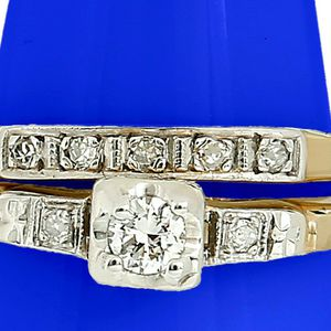 U7000 LADIES DIAMOND ENGAGEMENT RING WEDDING BAND SET 14K GOLD for Sale in Beverly Hills, CA
