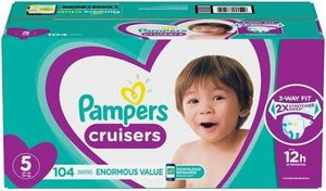 Pampers size 5 cruisera 104ct for Sale in Federal Way, WA