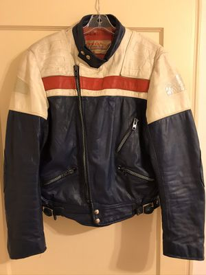 70's Vintage Honda Motorcycle leather jacket for Sale in Macon, GA