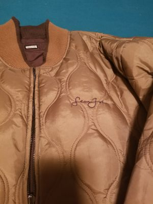 Sean John reversible Jacket. Peanut butter/ Chocolate for Sale in Humble, TX