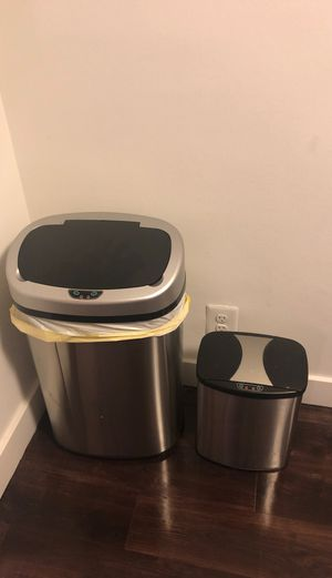 13 and 2.4 Gallon Touch-Free Sensor Automatic Stainless-Steel Trash Can 09R for Sale in Alexandria, VA