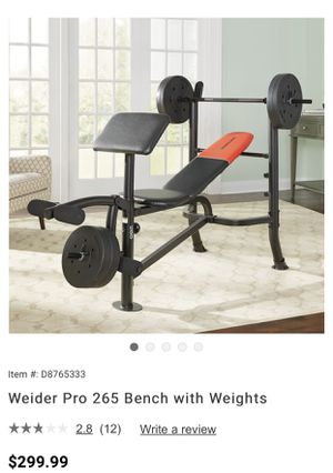 Weider Pro Bench Press w/ Weights for Sale in Fresno, CA