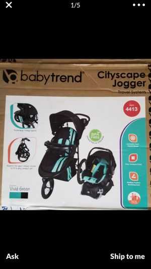 Baby trend cityscape stroller + car seat + base for Sale in Long Beach, CA