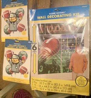 Football Decorations! Brand New - still in original package unopened for Sale in San Tan Valley, AZ