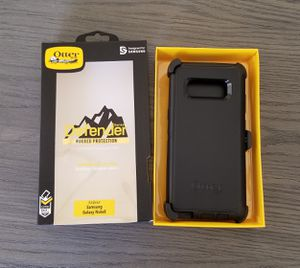 Samsung Galaxy Note 8 Otterbox Defender Case with belt clip holster black for Sale in Canyon Country, CA