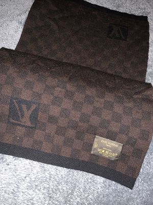 Louis Vuitton Dark Brown M74200 Damier Graphic Scarf/Wrap for Sale in Dallas, TX