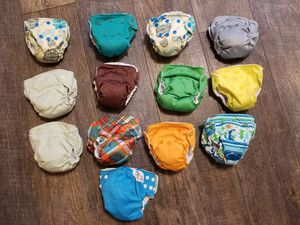 Rumparooz Lil Joey newborn cloth diapers (8) for Sale in Denver, CO