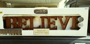 """Metal LED """"BELIEVE"""" MARQUEE SIGN for Sale in Grand Prairie, TX"""