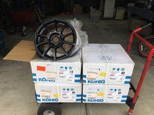 Konig Runlite car wheels, set of 4 brand new for Sale in Steilacoom, WA