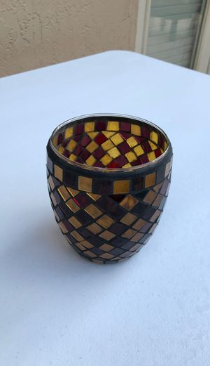 Mosaic Glass Candle Holder for Sale in Lauderhill, FL