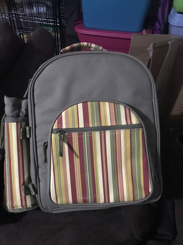 Picnic wine backpack