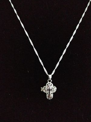 Beautiful Halo out silver 925 cross locket necklace. Brand new for Sale in Panama City Beach, FL