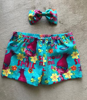 Trolls Baby pants & bow for Sale in Lakeland, FL