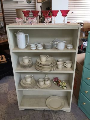 "Shabby Chic White Bookcase...30x9x48""...$40/firm for Sale in Spring Valley, CA"