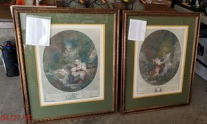 Two Large Victorian Framed Prints for Sale in Williamsport, PA
