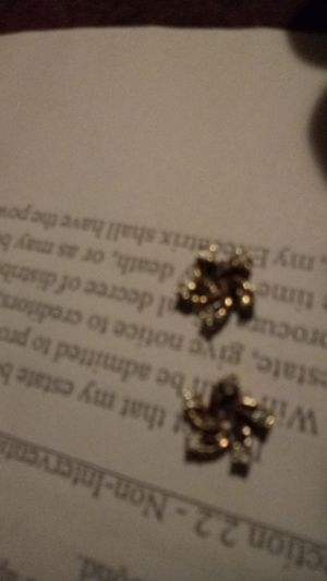Star gold and diamond earrings for Sale in Tacoma, WA