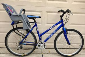 """Trek mountain bike w/ baby seat - 26"""" wheels 19"""" frame -great garaged kept condition - ready to ride ! for Sale in Wylie, TX"""