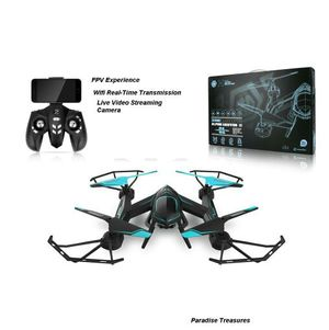 FPV Futuristic Quadcopter RC Helicopter Drone w/ HD Camera WIFI Streaming 2.4 Ghz 6-Axis Gyro 5 Channels Quadcopter with Modern Gaming Remote for Sale in Norfolk, VA