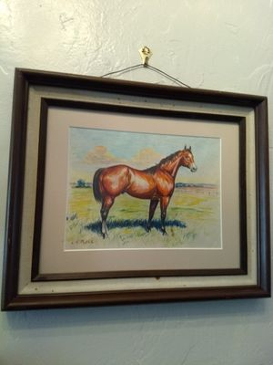 Original horse drawing by Oklahoma artist for Sale in Midland, TX