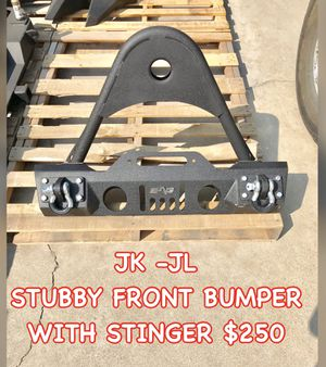 JK - JL Jeep Wrangler Stubby Front Bumper with Stinger and shackles for Sale in Colton, CA