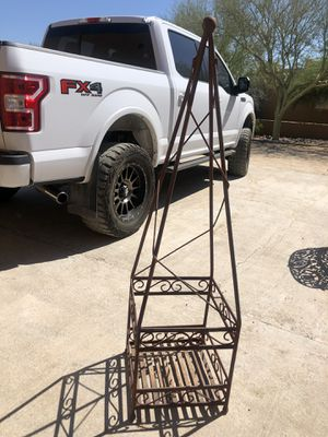 Outdoor wrought iron plant stand for Sale in Phoenix, AZ