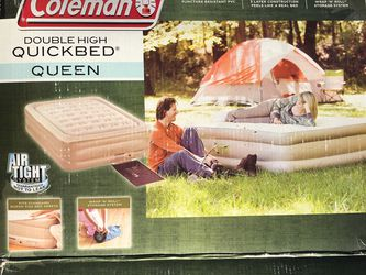 Coleman Queen Double High Quickbed Air Mattress With Pump for Sale in Scottsdale,  AZ