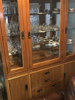 Oak China Hutch for Sale in Tacoma,  WA