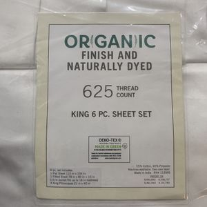 Organic Finish And naturally dyed 625 Thread Cont King Size Bedding Set for Sale in Linden, CA