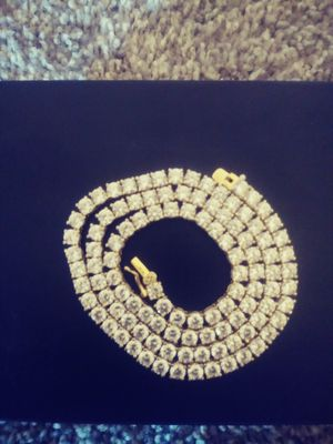 Sterling silver 4mm white gold finish 18in tennis chain for Sale in Mesquite, TX