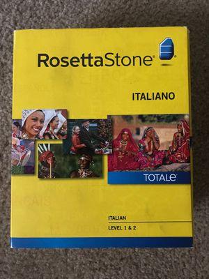 Rosetta Stone Italiano Italian level 1 & 2 for Sale in Las Vegas, NV