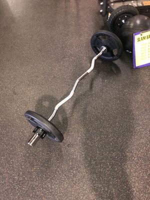 Olympic curl bar for Sale in Houston, TX