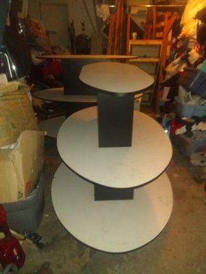 2 White 3 Tier Oval Displays for Sale in Watauga, TX