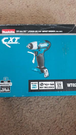 "Makita 12v max cxt lithium-ion 3/8"" impact wrench for Sale in Baltimore, MD"