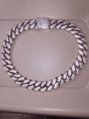 Diamond silver chain for Sale in Fort Washington, MD