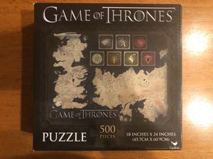 Game of Thrones puzzle-500 pieces for Sale in Everett, WA
