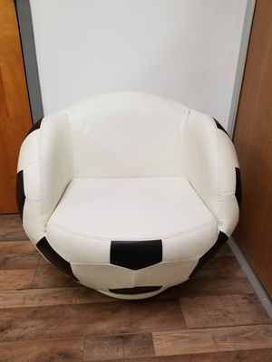 Pre-owned Kid's Leather Soccer Ball Swivel Chair for Sale in BRECKNRDG HLS, MO