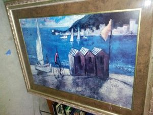 Framed wall art sail boats tents for Sale in Ceres, CA