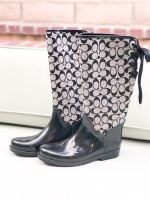 Coach Rain Boots Women's Size 11 [Like New!] for Sale in San Juan Capistrano, CA