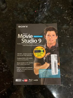 Sony Movie Production Kit - Vegas Movie Studio 9 for Sale in Tampa, FL