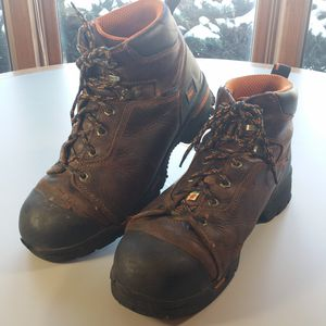 Steel Toe Timberland Pro Work Boots Men's 11.5 Wide Brown Leather 52562 for Sale in Willowbrook, IL