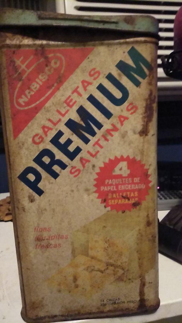 Antique saltine tin