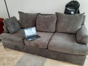 Great condition Full Size Couch - Cotton/Suede for Sale in Las Vegas, NV